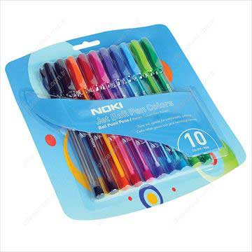 Resim Noki JBPR10 Jet Ball Pen Colours 10 Lu Blisterli