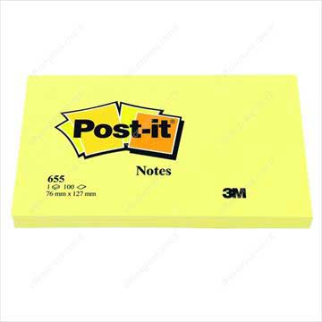 Resim Post-it 655 Not Sarı 76x127mm