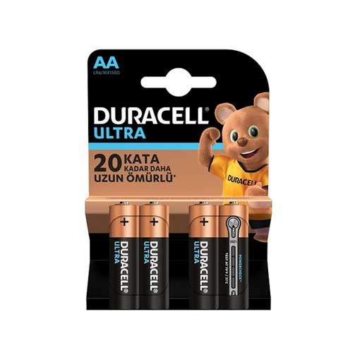 Duracell Pil Ultra Power 4'Lü AA Kalem